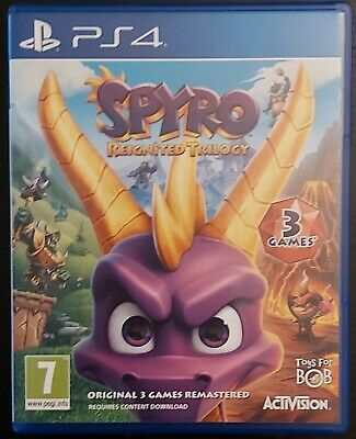 Spyro: Reignited Trilogy - 3 Games in 1 (PlayStation 4, 2018)
