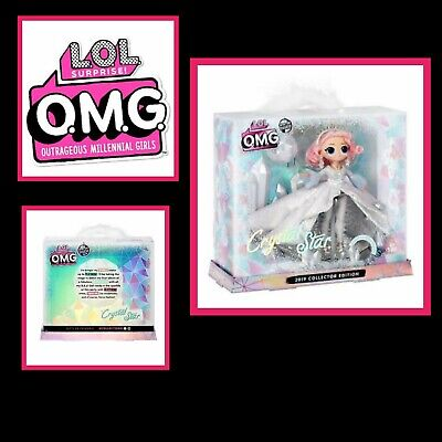 LOL Surprise OMG Crystal Star 2019 Collector Edition Winter Disco Doll Free Post