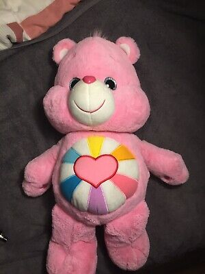 "Care Bears Pink HOPEFUL HEART Teddy Bear Large 22"" Stuffed Animal Plush soft toy"
