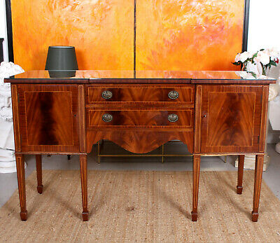 Antique Sideboard Fine Quality Inlaid Flamed Mahogany Credenza