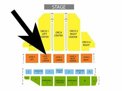 LOVE ROCKS NYC Beacon NY Mar 12 Dave Matthews Jackson Brown 2-4 Tix LOGE1 ROW E