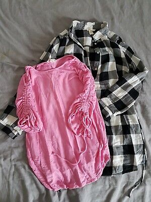 Bundle of 2 items. H&M MAMA Maternity Top, Shirt Size S