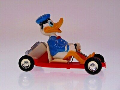 "GSCOM ""DONALD DUCK RACING KART"" MARX HONG KONG, 15cm, FR FAULTY, VERY GOOD !"