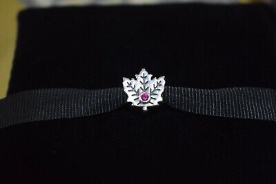 Genuine rare Pandora Canadian MAPLE LEAF Charm excellent condition box included