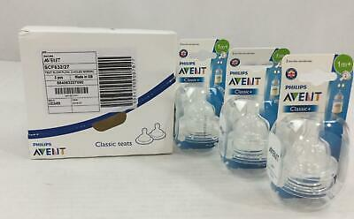 Philips Avent Classic Nipples 6 Count Slow Flow Anti Colic Infant New 1 Month+