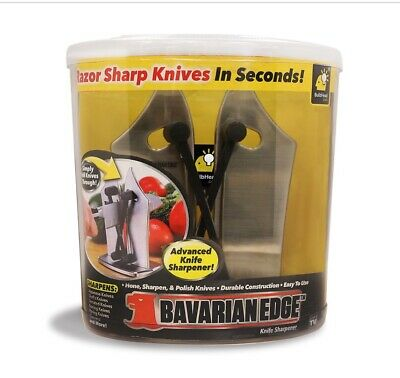 Bavarian Edge Kitchen Knife SharpenerHones Serrated,Beveled,Standard Blades New