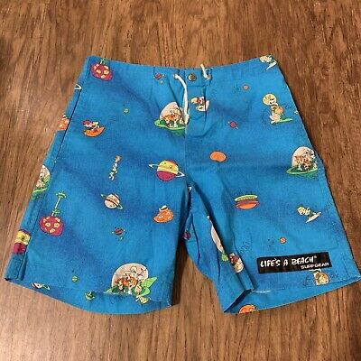 VTG 90's Life's A Beach Bad Boys Surfgear Jetsons Board Shorts Swimsuit Small S