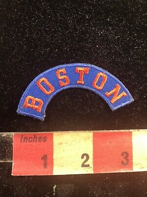Red On Blue BOSTON Massachusetts Tab Patch 93AD