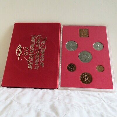 1973 UNITED KINGDOM 6 COIN PROOF SET WITH EEC 50 PENCE - unopened/outer