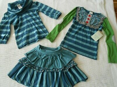 Persnickety Matching 3 Piece Set Lulu Size 6, 7 and 8 in Blues