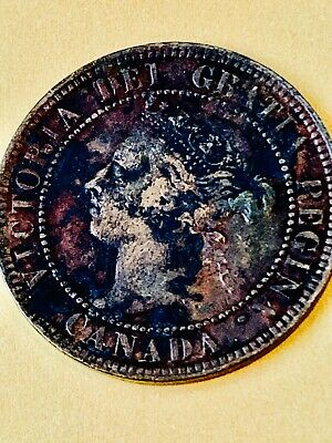 Canada 1899 Large One Cent Coin - Queen Victoria