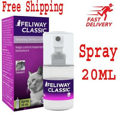 FELIWAY CLASSIC SPRAY 20ml Spray; Calming & Stress Relief For Cats GREAT PRICE!!