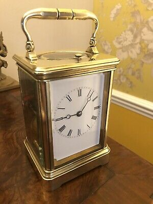 Stunning ANTIQUE FRENCH DROCOURT STRIKING REPEATER 8 DAY CARRIAGE CLOCK