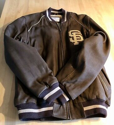 Original San Francisco Giants  Baseball Lederjacke  Genuine Merchandise