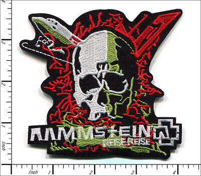 20 Pcs Embroidered Iron on patches Rammstein Heavy Metal AP056rE2