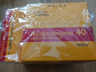 Sealed 4 Kodachrome 40 Color Movie Film Super 8 Cartridge Type A Exp March 2006
