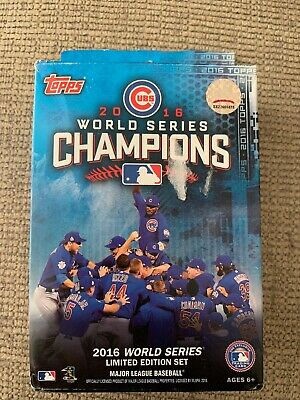 2016 Topps Chicago Cubs World Series CHAMPIONS Factory Sealed Hanger Box Set!