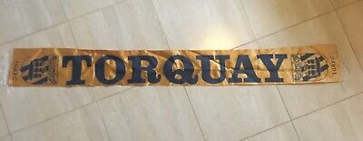 Rare Torquay United FC Early 1970's Siilk Scarf.