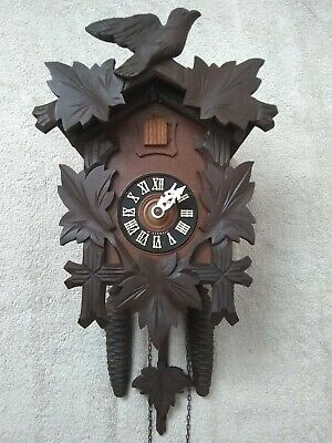 Black Forest AUGUST SCHWER mechanical 30 Hour  Cuckoo Clock Excellent  Condition