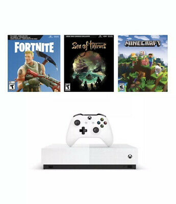 "Microsoft Xbox One S 1TB Console - ""All Digital"" Special Edition  -3 Game Bundle"
