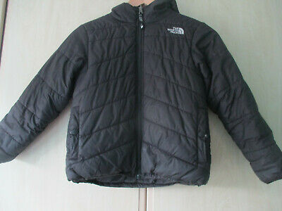 boys THE NORTH FACE BLACK HOODED OUTDOOR COAT SIZE JUNIOR SMALL