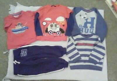 Boys Long Sleeve Top Bundle 2-3 years t shirt Jumpers x2 Joggers