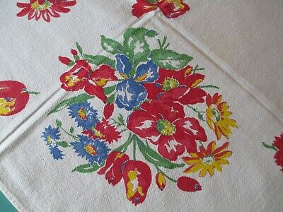 Vintage Pedigree Red Flowers Tablecloth Cutter ?