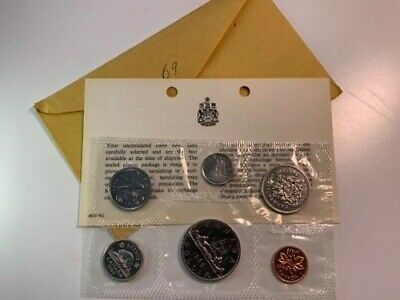 Canada 1969 Uncirculated Proof-like Coin set Royal Canadian Mint