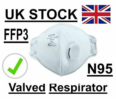 Antivirus Corona Vented Face Dust Mask Meets FFP3 N95 Respirator UK