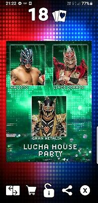 Topps WWE Slam Digital Card Lucha House Party motion 2020 factions stables