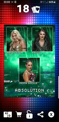 Topps WWE Slam Digital Card Absolution motion 2020 factions stables Paige Mandy