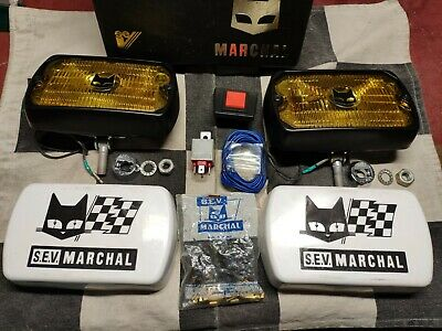 Coffret anti brouillard MARCHAL 750 neuf - fog lamps box set - youngtimer Ford