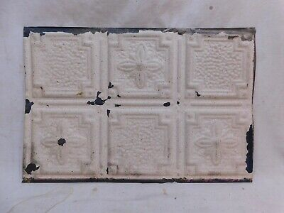 "Antique 1800's 18"" x 12"" TIN CEILING Tile Victorian Framed Floral Design ORNATE"