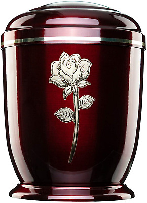 Jager Urna Urns for Ashes Adult Large Cremation Funeral Human Remains Rose Metal