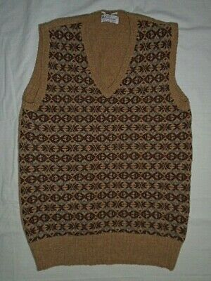 Fair isle knit Tank Top Vest 1930s 40s Vintage style WW2 Wartime Sweater peaky M