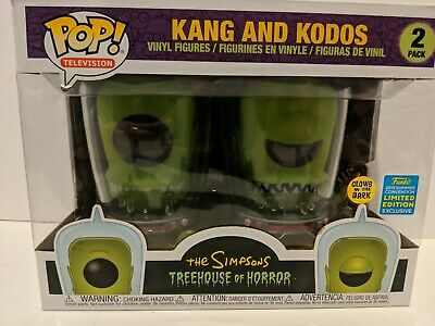 Funko Pop! The Simpsons Treehouse of Horror Kang and Kodos GITD SDCC SHARED NEW!