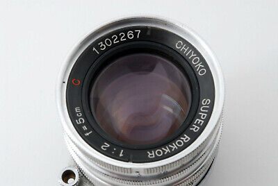 Rare [Excellent+] Chiyoko Super Rokkor C 50mm f/2 Leica L39 Muount From Japan