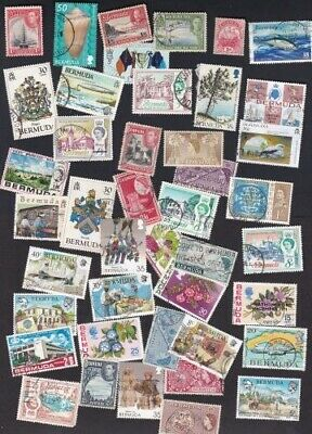Bermuda 54 Different Stamps From Dealer's Hoard  Large Used **SALE**