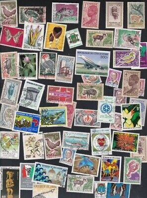 Ivory Coast 54 Different Stamps From Dealer's Hoard  Large Mint/Used **SALE**