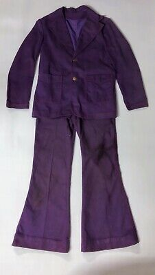 Vintage Keyman 1970's Purple Suit with flares. Size Small Ladies or teenager