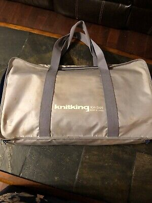 Brother KH-341 Folding Portable Knitting Machine With Bag, Manual, & Accessories