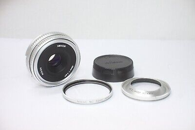 Nikon Nikkor P 45mm F/2.8 Ai-S Silver Lens Made In Japan
