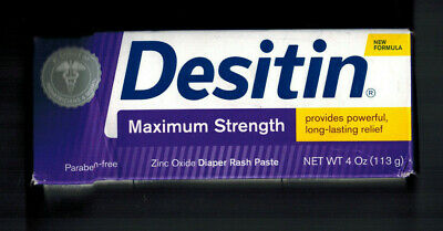 Desitin Maximum Strength 4 Oz Diaper Rash Cream Paste Ointment Treatment Prevent