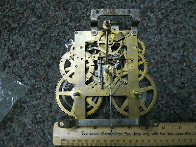 Antique E Ingraham Mantle Clock Movement 3 1/2 x 5 1/4 frame runs 7 28