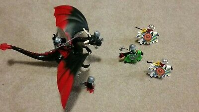 Playmobil Giant dragon with LED fire plus knights