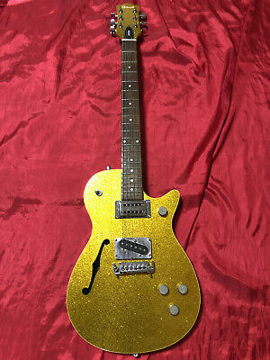 Gretsch Electromatic G1629 Jet Gold Sparkle Electric Guitar