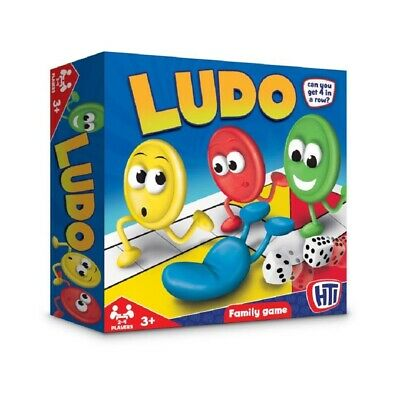HTI Ludo Traditional Board Game Family Fun Time Game For 2-4 Player