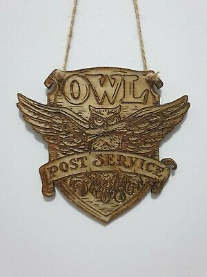 Harry Potter Store Sign Inspired Wood Wall Decor Hanging Engraved Owl