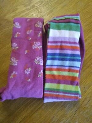Lovely Little Girl Tights (Two Pairs), Next, 3-4yrs, Pinks, Worn Once.