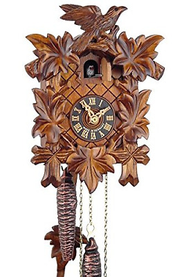 Original Black Forest Cuckoo Clock Wooden 1-Day Mechanical Mechanism with VDS